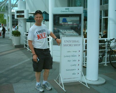 Buy your smokes at Canada Place
